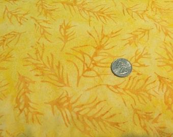 Island batiks, yellow and Rust Twigs