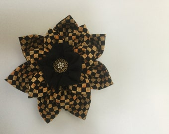 Large Harlequin Fabric Flower