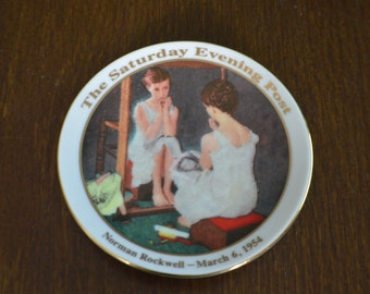 "Norman Rockwell's ""Girl At The Mirror"" Collectible Plate"