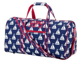 Navy Sail Away Duffel Bag