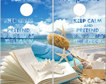 Keep Calm Beach Theme Book Cornhole Wrap Bag Toss Decal Baggo Skin Sticker Wraps