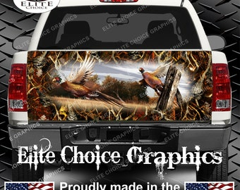 Ringneck Pheasant Obliteration Skull Blaze Camo Truck Tailgate Wrap Vinyl Graphic Decal Sticker Wrap