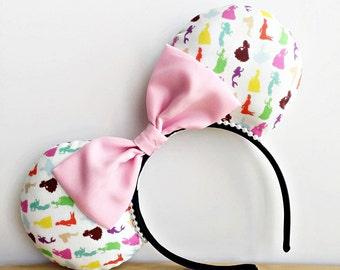 Princess Minnie Ears, Princess Mouse Ears, Disney Princess Minnie Ears, Disney Princess Ears, Custom Princess Minnie Ears Princess Icon Ears