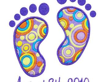 Bare Feet Applique Embroidery Design