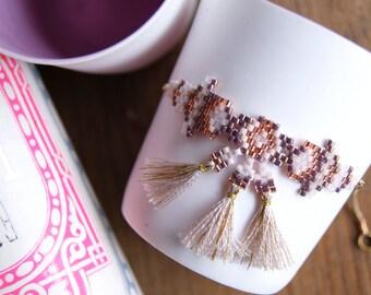 Vijay - Copper and pink Bracelet