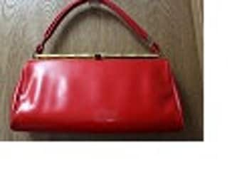 Vintage Red Patent Leather Purse