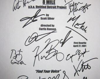 8 Mile Signed Movie Film Screenplay Script X14 Eminem Britany Murphy 50 Cent Kim Basinger Mekhi Phifer Xzibit autographs signature Jackson