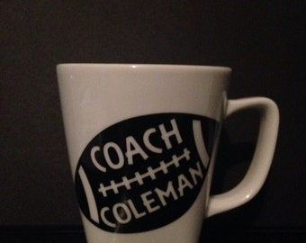 Custom Football Coach Mug or Player Mug