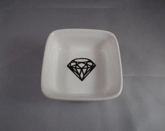 Diamond Ring Dish Jewelry Holder Trinket Dish