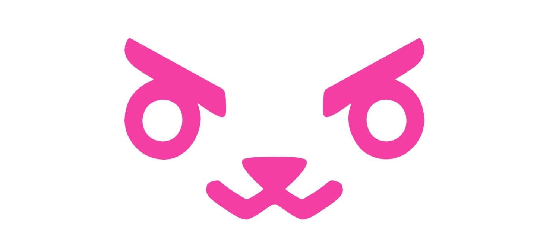 d va overwatch bunny rabbit face decal for car laptop