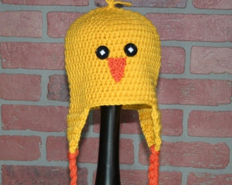 Yellow Chick Crocheted Hat - FREE SHIPPING