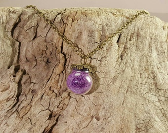 Ball chain with purple Pearl