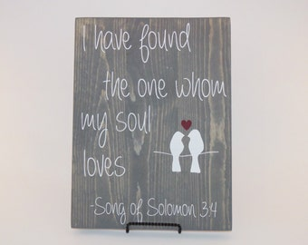 Song of Solomon Wooden Sign