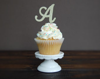 Personalized Initial Cupcake topper, cupcake topper birthday, birthday party, birthday decorations