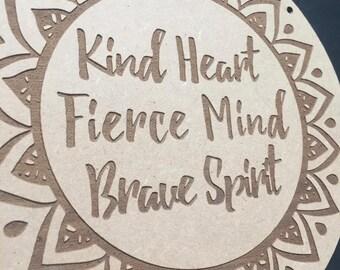 Kind Heart Door Sign Decor Wall Hanging Gift Boho Door Sign Bedroom Decor