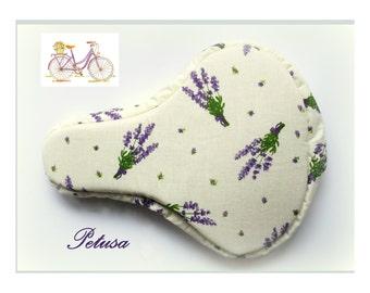 Lavender seat cover bike spring fashion accessories sattelbezug sattelschoner