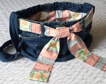 SALE - Upcycled jeans shoulder bag