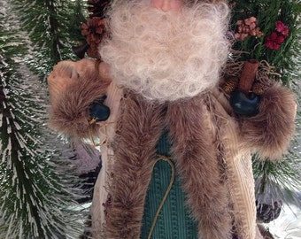 "Vintage Father Christmas/Santa Display Doll/Tree Topper  19"" Tall"