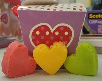 Love Me! Heart Shaped Bath Bombs