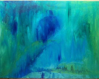 """original abstract painting, acrylic on canvas 18""""x24"""""""