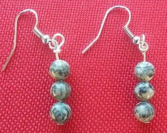 Spiderweb Jasper earrings
