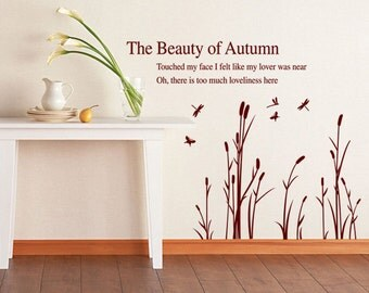 The Beauty of Autumn wall sticker