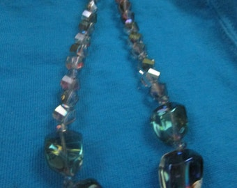 Gorgeous Iridescent Nugget Necklace