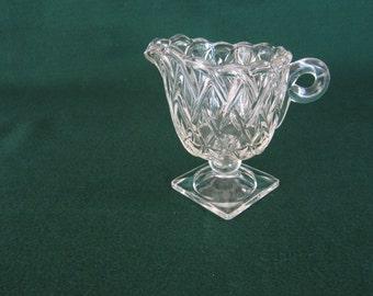 Indiana Glass Pretzel Footed Creamer