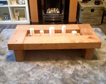 Oak sleeper Coffee Table wood coffee table coffee table