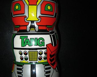 TANG ROBOT Vintage Coin Bank * Used Condition No Mix only the container * Cut top where marked to drop in coins! * Retro Design