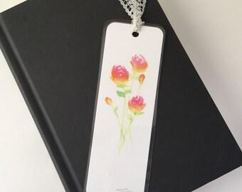 Bookmark - Original Print of Watercolor Roses