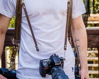 Handmade camera leather harness ,camera strap