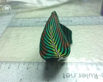 Polymer clay leaf cane