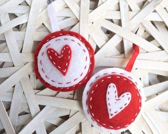 Pendants with heart-felt ornaments handmade gift idea