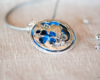 Art in a pendant - nature , fairies , elves and angels