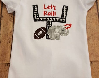 Let's Roll applique onesie