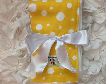 Flannel diaper burp cloths, baby boy, monster, grey, yellow,  soft, cozy, 6 ply, set 3, gift, baby shower