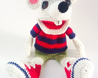 Mouse Crochet Hand Puppet / Hand Puppets / Amigurumi / Crochet Doll / Children Toy / Birthday Gift / Animal Lover Gift Idea / Handmade