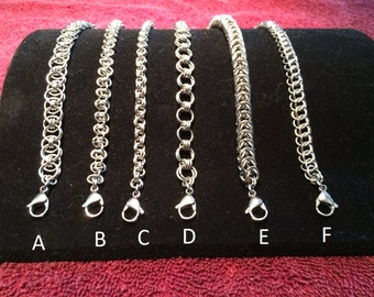 Stainless Steel Chainmail Bracelet 8 inch-Group 1