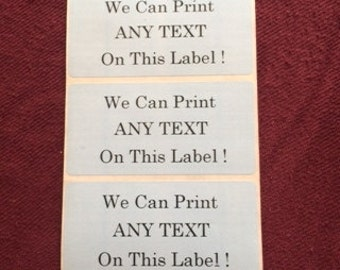 Powder Blue Printed Labels