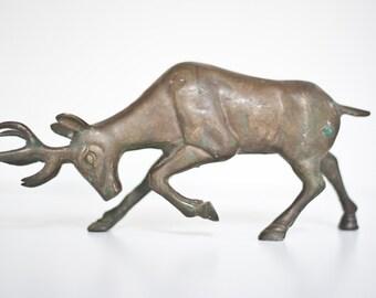 Brass Stag Horn Deer