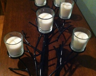 """Table top """"Tree"""" metal candle holder"""