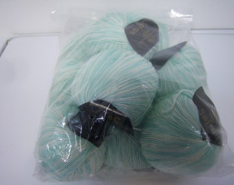 Safran Yarn, 10 Ball Skeins,  Made In Italy, 100% Hellars Bomull, Color 3 7, Dye Lot 301, 1.8 Oz Each, New Yarn