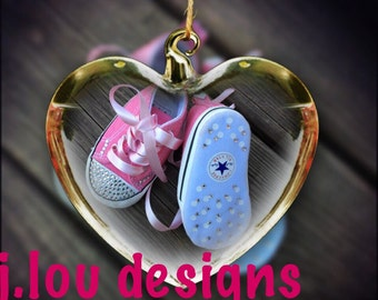 Converse bling crib shoes