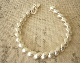 Chunky Sterling Silver San Marco Link Bracelet