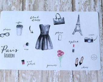Little Black Dress Paris Fashion Girl Planner Agenda Stickers