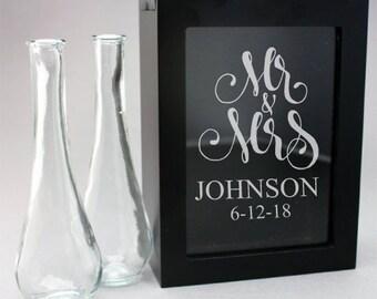 Mr. & Mrs. Fancy Engraved Unity Sand Ceremony Shadow Box Set (PPD-JM5859698)