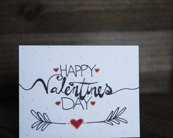 Happy Valentines Day Hand drawn Card