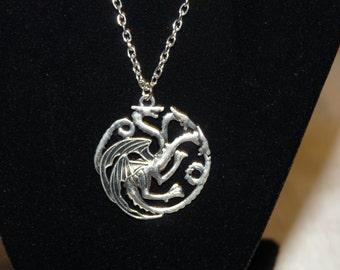 House Targaryen emblem necklace Game of Thrones