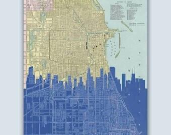 Chicago Wall Art chicago wall art | etsy